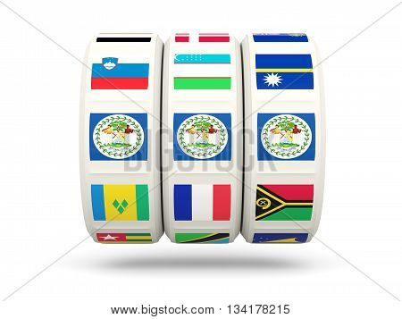 Slots With Flag Of Belize