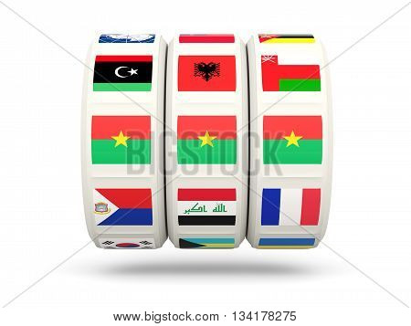 Slots With Flag Of Burkina Faso