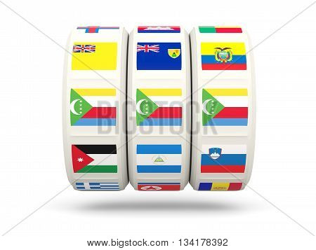 Slots With Flag Of Comoros