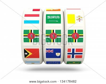 Slots With Flag Of Dominica