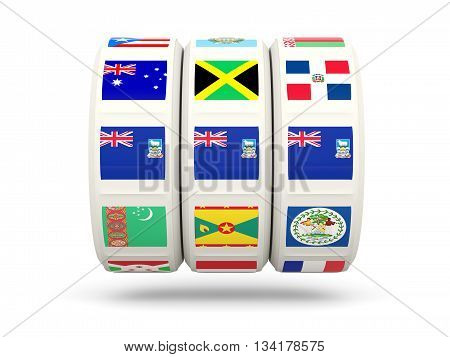Slots With Flag Of Falkland Islands