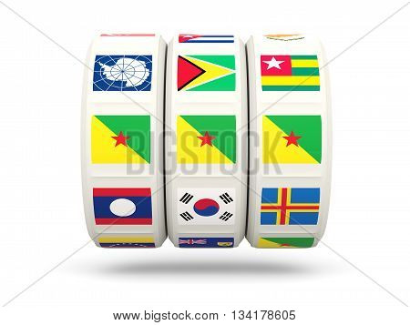 Slots With Flag Of French Guiana