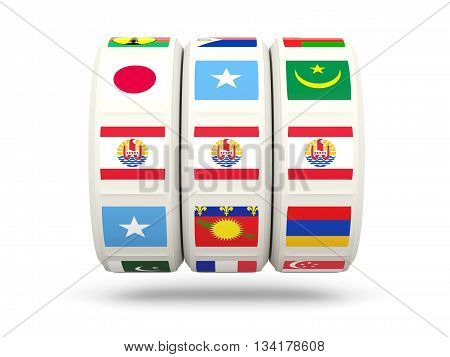Slots With Flag Of French Polynesia