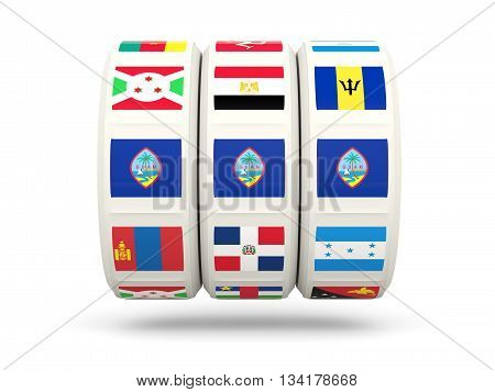 Slots With Flag Of Guam