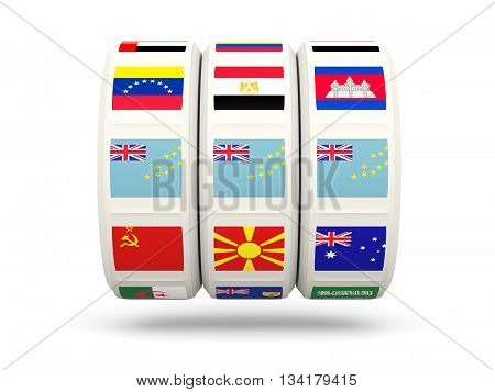 Slots With Flag Of Tuvalu