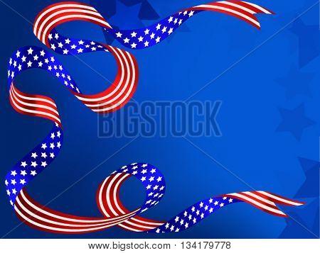 US patriotic ribbon