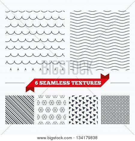 Diagonal lines, waves and geometry design. Waves lines texture. Stripped geometric seamless pattern. Modern repeating stylish texture. Material patterns.