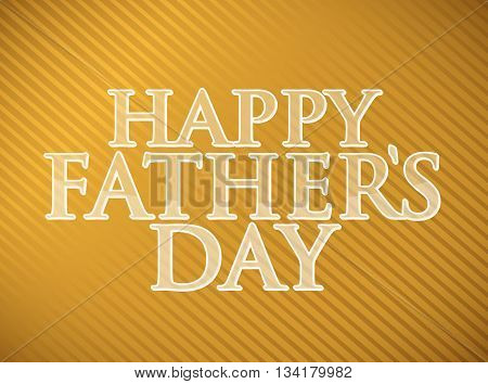 Happy Fathers Day Gold Background