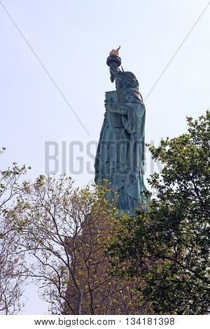 The Statue of Liberty or Lady Liberty in New York Harbor