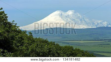 View On Mountain Elbrus of Pyatigorsk city,Northern Caucasus,Russia.