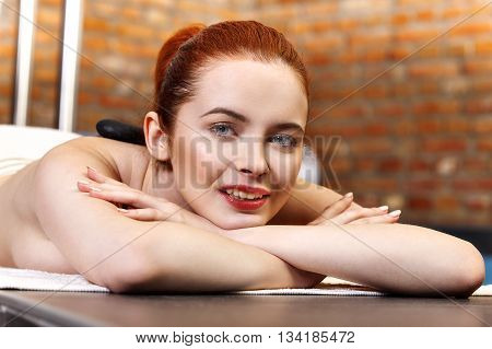 Stone Massage, Woman Getting A Hot Stone Massage