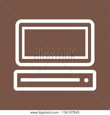 Computer, screen, monitor icon vector image. Can also be used for networking. Suitable for web apps, mobile apps and print media.