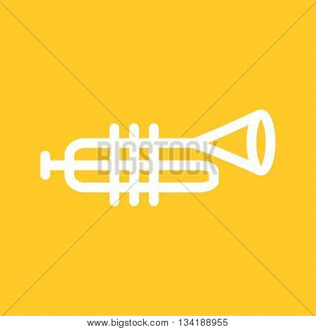 Trumpet, musical, instrument icon vector image. Can also be used for music. Suitable for web apps, mobile apps and print media.