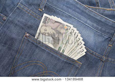 japanese yen in jeans pocket - 10000 yen