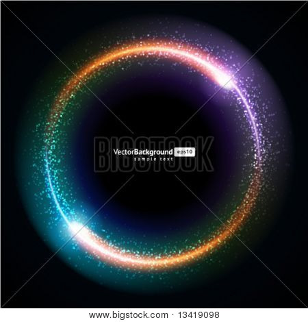 Abstract burning technology circle vector background
