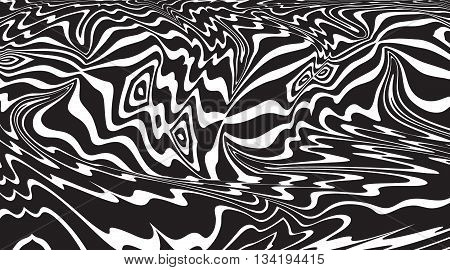 Optical Art Background Op Art Balck And White