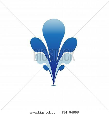 Fountain Water Blue Symbol Icon Sign Element