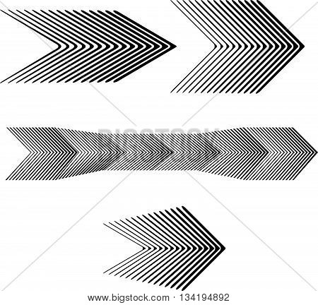 Black And White Arrow Forward Graphic Design Set