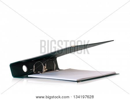 Greenl business file folder, isolated on white background