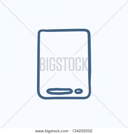 Touch screen tablet vector sketch icon isolated on background. Hand drawn Touch screen tablet icon. Touch screen tablet sketch icon for info graphic, website or app.
