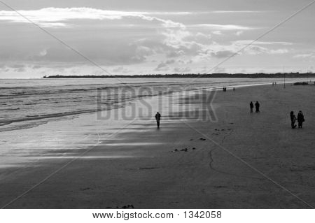 Loneliness On Beach
