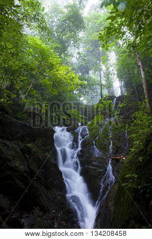 Ton Sai WaterfallBan Khao Phra Thaeo WildlifePhuket Thailand.