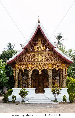Small Buddhist Temple In Luang Prabang, Lao