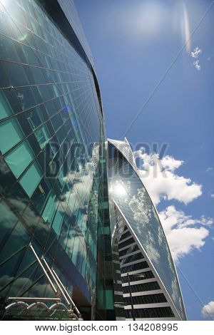 Moscow Russia - June 10 2016: Moscow City. View of skyscrapers Moscow International Business Center.