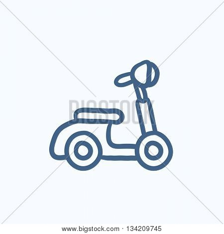 Scooter vector sketch icon isolated on background. Hand drawn Scooter icon. Scooter sketch icon for infographic, website or app.