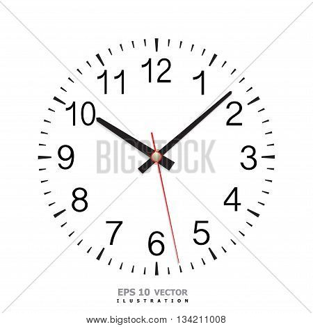 Clock dial classic and number isolated vector illustration.