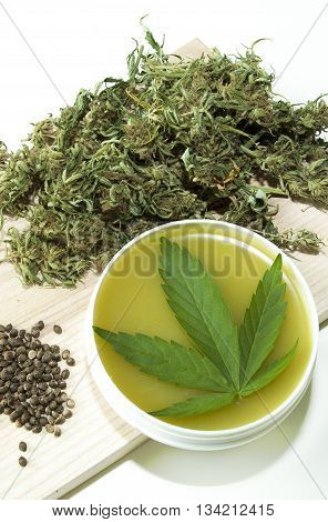 Cannabis marijuana hemp healing natural bio ointment