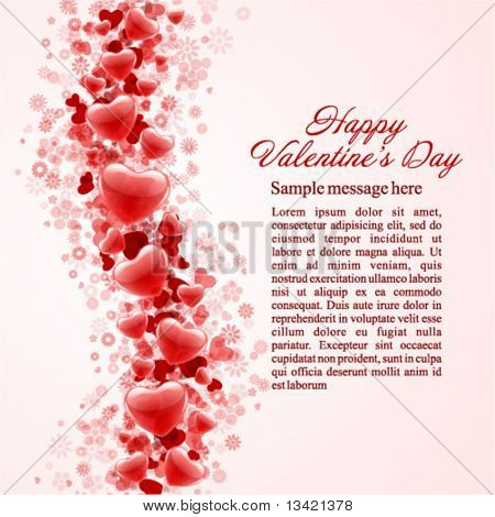 Hearts Valentine's day or Wedding vector background