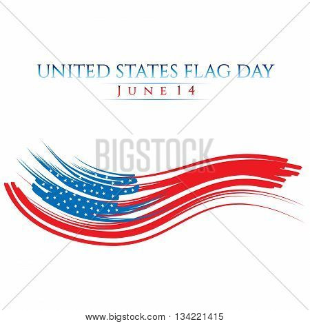 An abstract illustration with United States flag colors on Flag Day