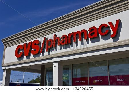 Indianapolis - Circa June 2016: CVS Pharmacy Retail Location. CVS is the Largest Pharmacy Chain in the US I