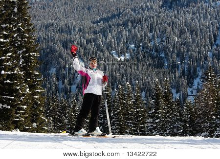 Skier. Ski Resort Madonna Di Campiglio. Italy