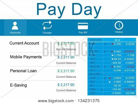 Pay Day Payments Salary Income Banking Benefits Concept