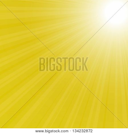 sunburst background vector illustration yellow sky eps 10