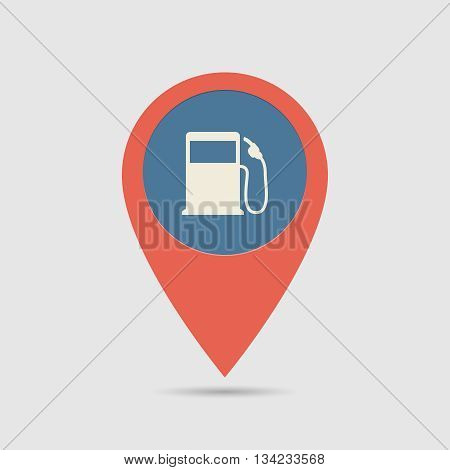 Map Pin Fuel Station