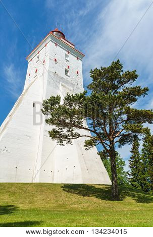 Large ancient lighthouse in Kopu Hiiumaa island Estonia. It is one of the oldest lighthouses in the world having been in continuous use since its completion in 1531.