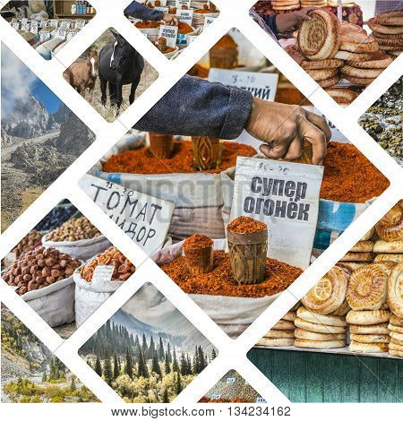 Collage Of Kyrgyzstan Images - Travel Background (my Photos)