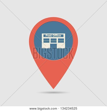 Map Pin Post Office