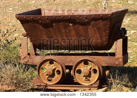 rusted mine cart