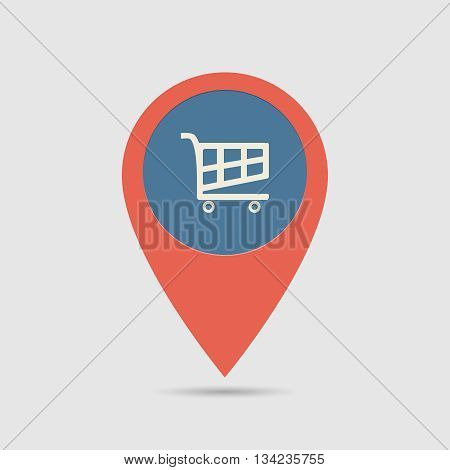 Map Pin Supermarket