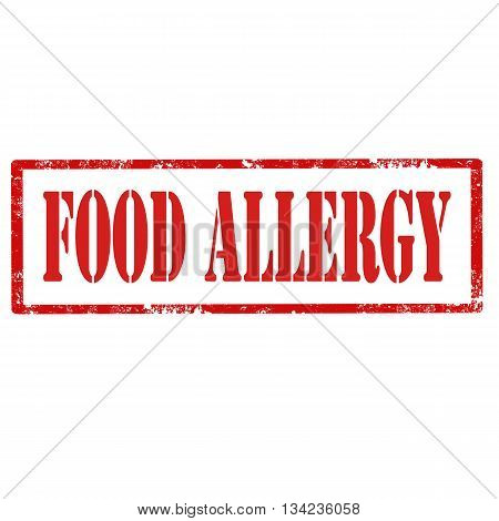 Grunge rubber stamp with text Food Allergy,vector illustration