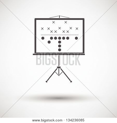 American Football Game Plan Stand Icon