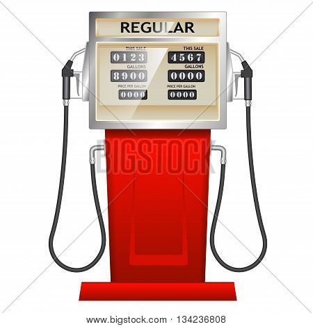 red petrol station with counter in USA