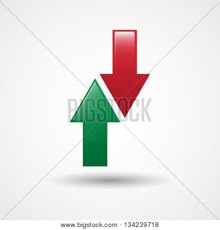Up And Down Arrows Icon | Substitute Sign In Football | Soccer