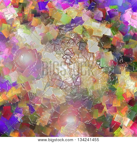 Abstract coloring background of the square wood frame gradient with visual plastic wrap effects