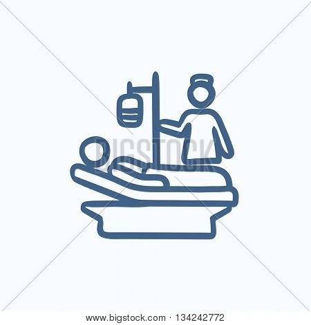 Nursing care vector sketch icon isolated on background. Hand drawn Nursing care icon. Nursing care sketch icon for infographic, website or app.