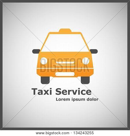 Taxi Service Logo Template | Taxi Cab | Vector EPS